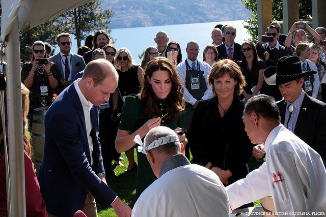 William and Kate at the Taste of British Columbia Festival