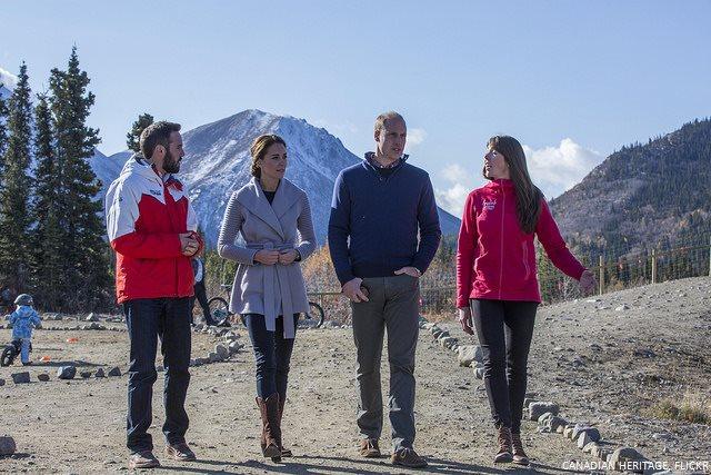 William and Kate at Montana Mountain in Yukon