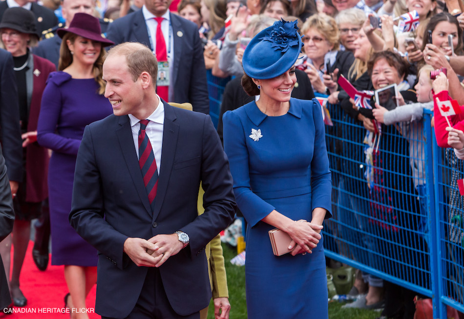 Kate Middleton wearing blue in Canada