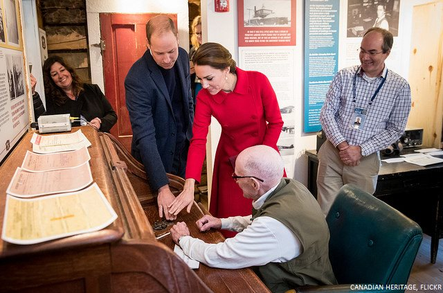 William and Kate in Yukon sending the Tweet via Telegraph