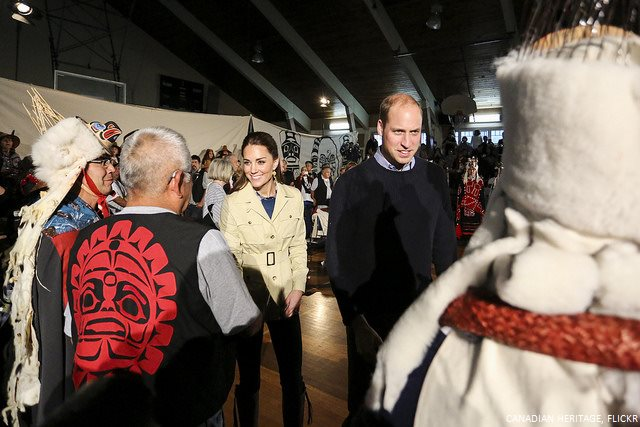 William and Kate meet with Heiltsuk First Nation people