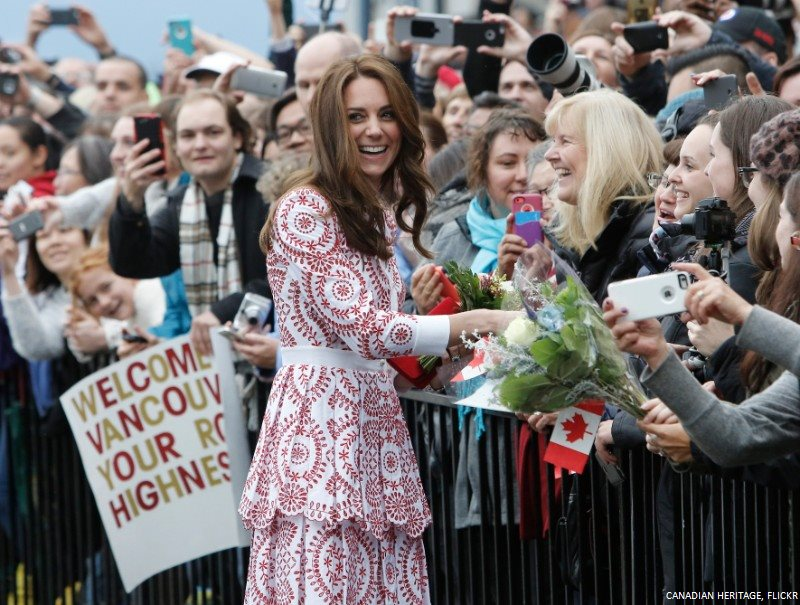 Kate Middleton in Vancouver at Jack Poole Plaza