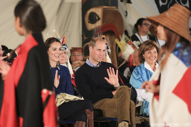 Kate Middleton and Prince William in Bella Bella