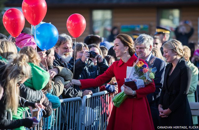 Kate Middleton meeting people in Yukon