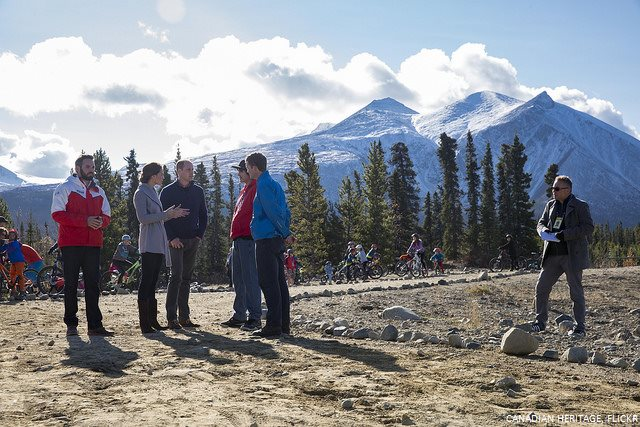 William and Kate at Montana Mountain in Yukon