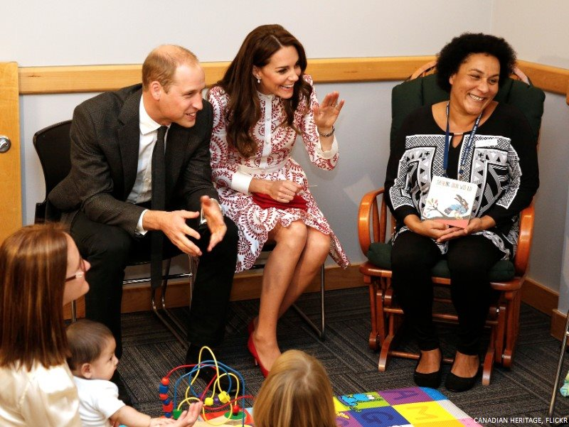 Kate Middleton visiting Sheway in Vancouver