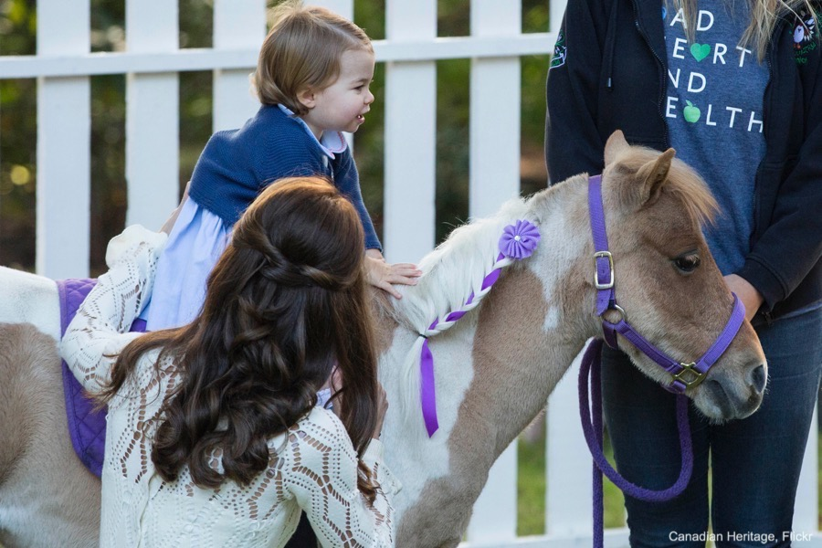 Princess Charlotte Riding a Pony In Canada