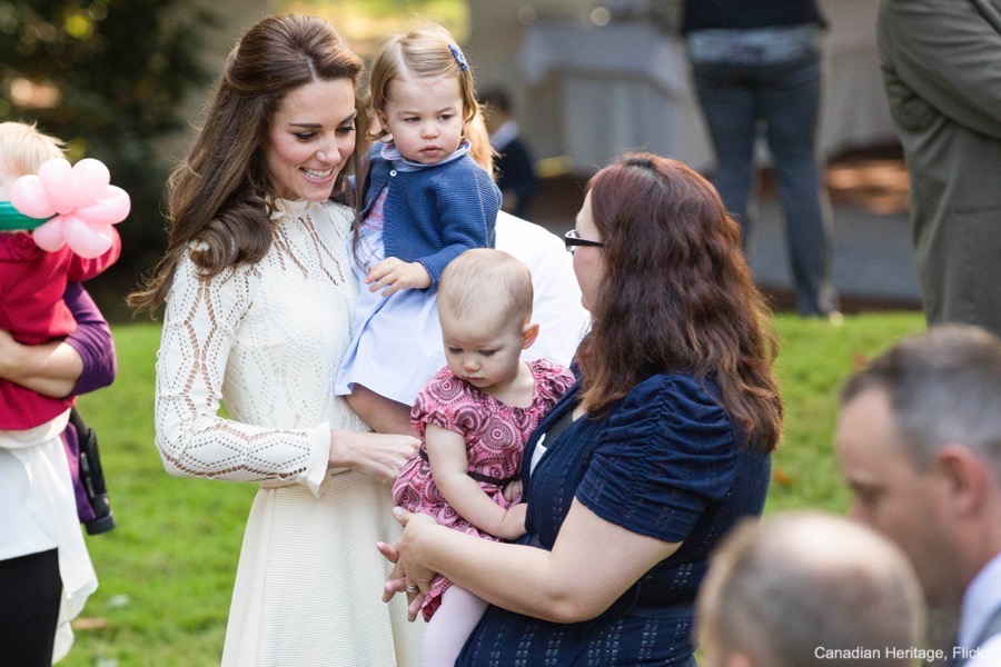 Kate Middleton and Princess Charlotte at the Children's Party in Canada