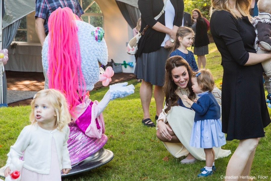 Princess Charlotte seeing puppets in Canada