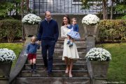 William, Kate, George and Charlotte at a Children's Garden Party in Canada