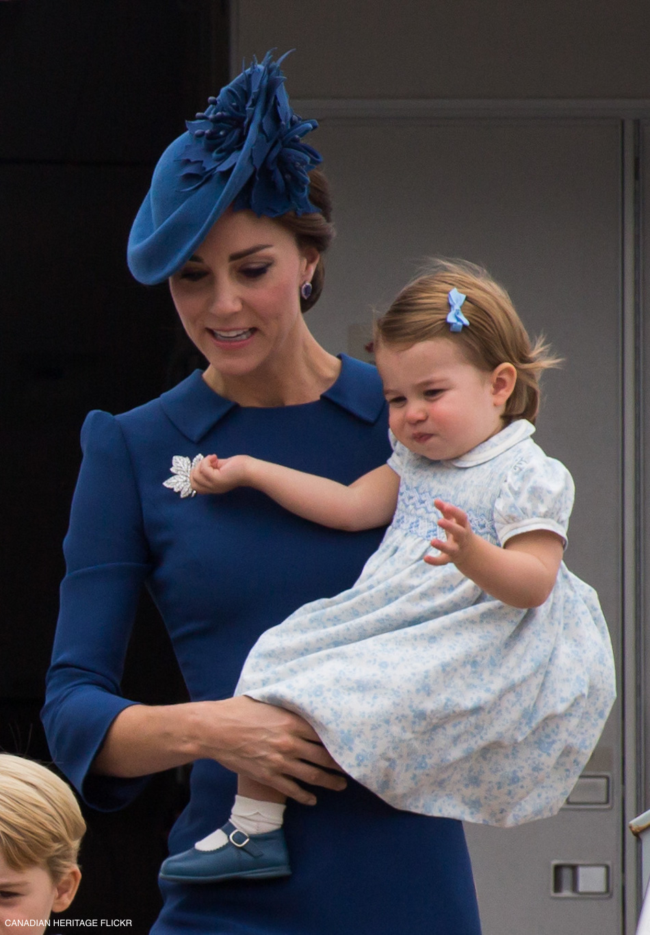 Kate Middleton and Princess Charlotte in Canada