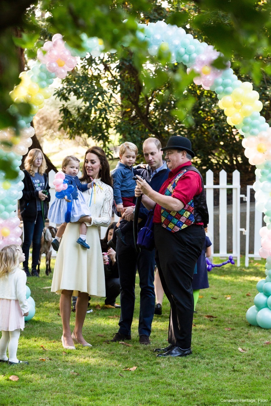 William, Kate, George and Charlotte attend a Children's Garden Party in Canada