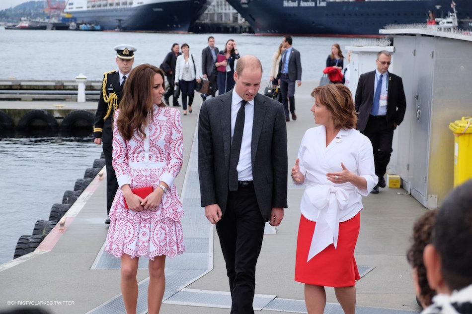 William and Kate with Christy Clark
