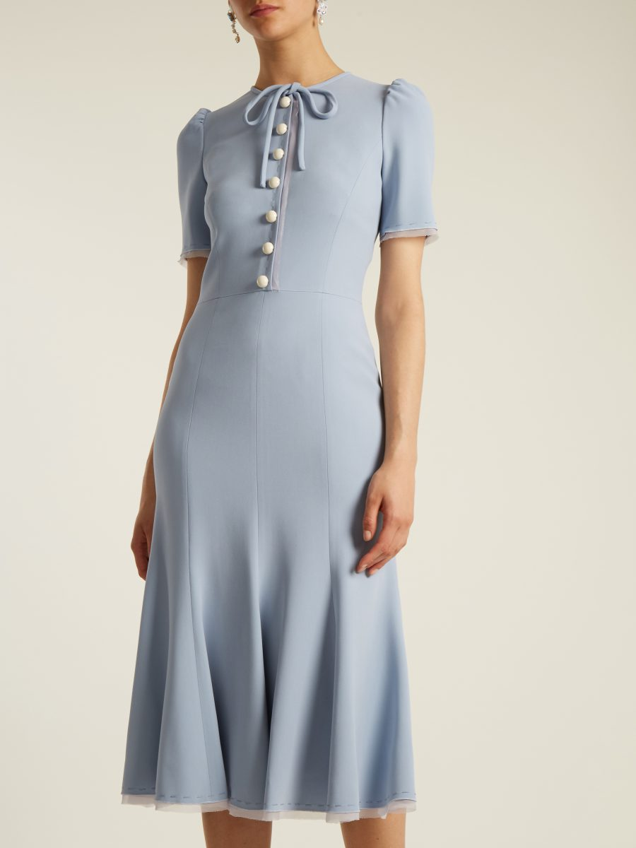 D&G blue midi dress