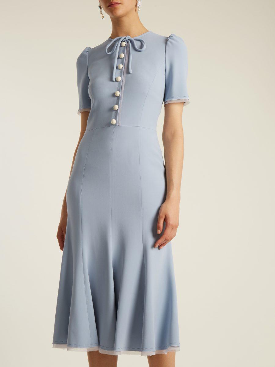 D&G blue midi dress