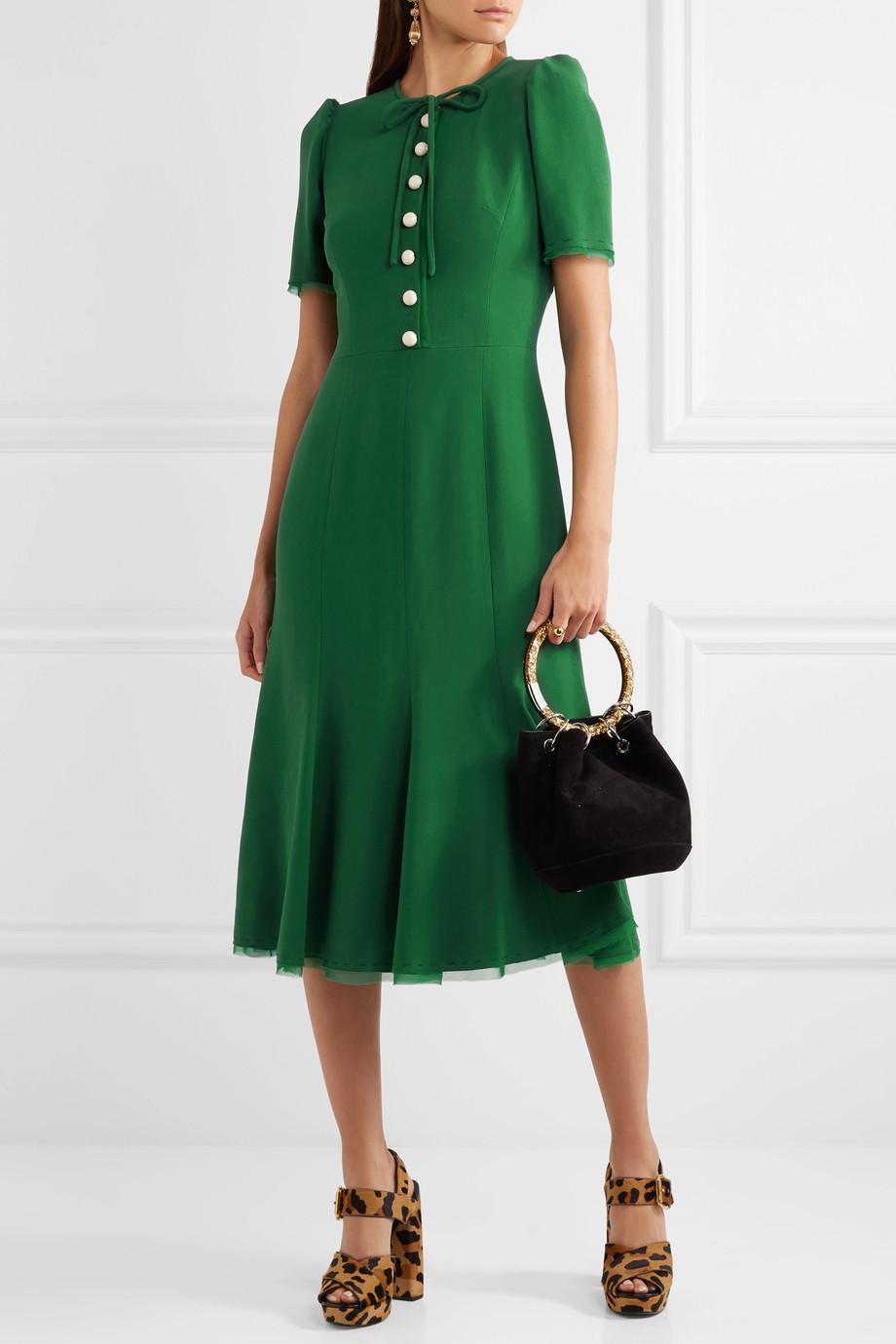 D&G green midi dress