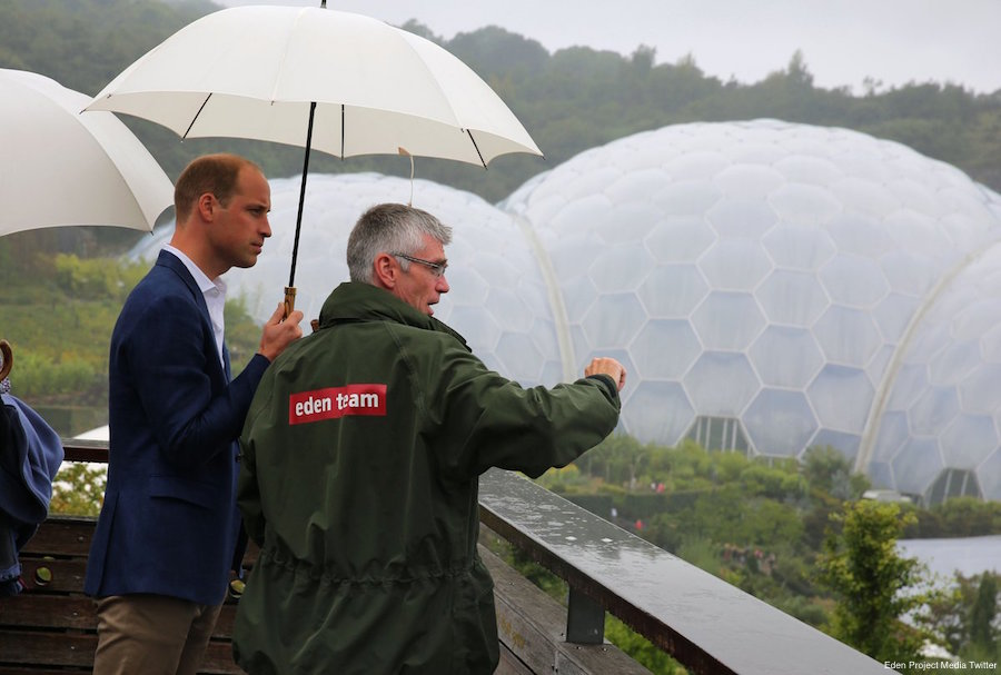 William and Kate visit the Eden Project