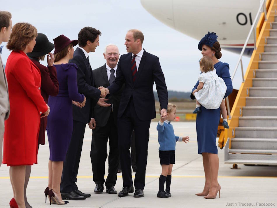 William, Kate, Charlotte and George in Canada