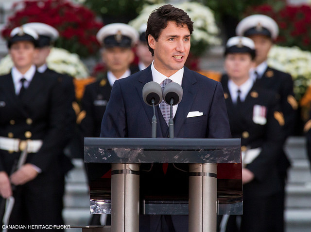 Justin Trudeau welcoming William and Kate to Canada
