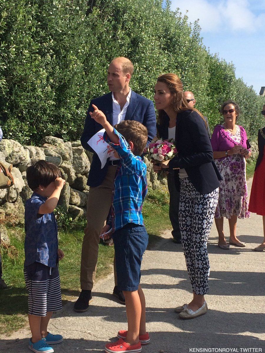 William and Kate on St Martin's
