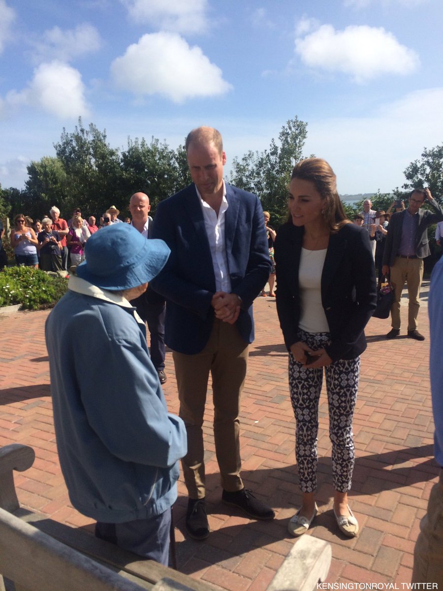 William and Kate on St Martin's, Isles of Scilly