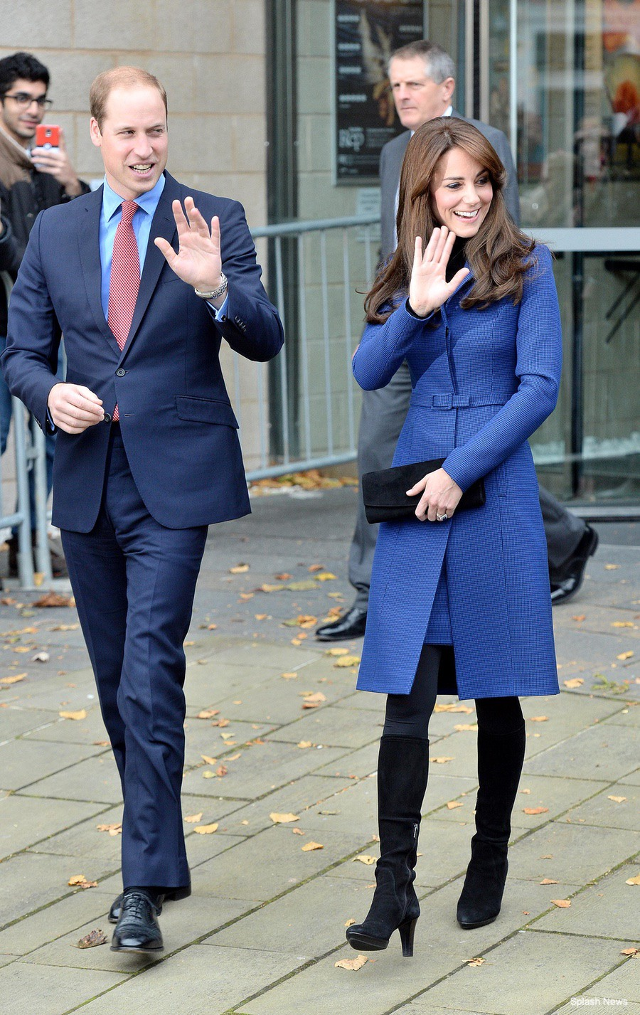 Kate Middleton wearing the Aquatalia Rhumba Boots during a visit to Dundee, Scotland