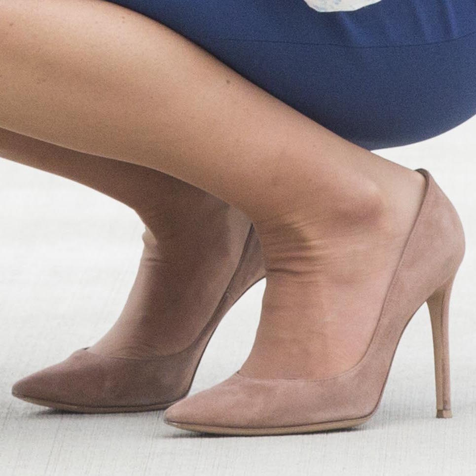 Kate Middleton's beige shoes in Canada