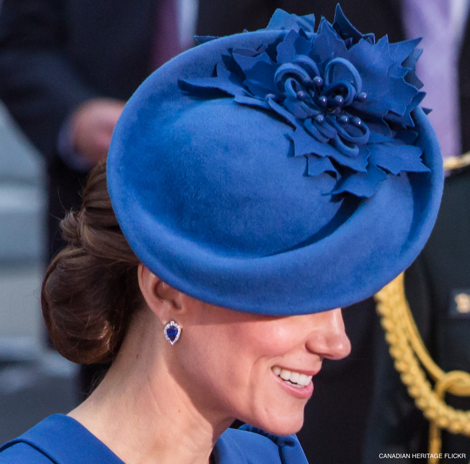 Kate Middleton's blue earrings in Canada
