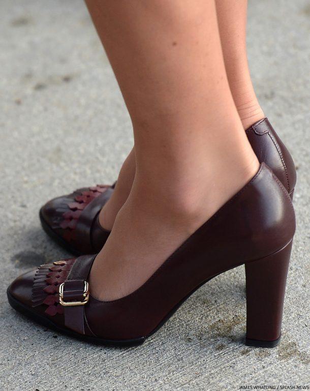 Kate Middleton's burgundy shoes in Yukin
