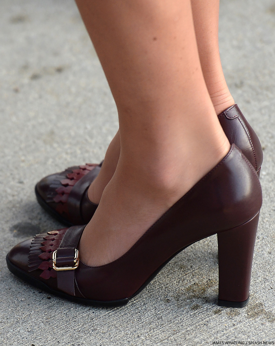 Kate Middleton's burgundy shoes in Yukin