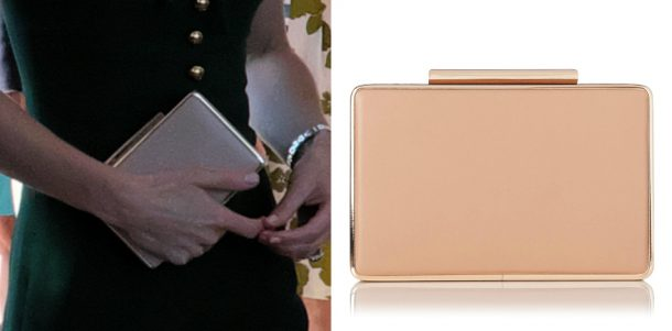 Kate middleton carries her nude LK Bennett Nina clutch bag in Kelowna, British Columbia, Canada