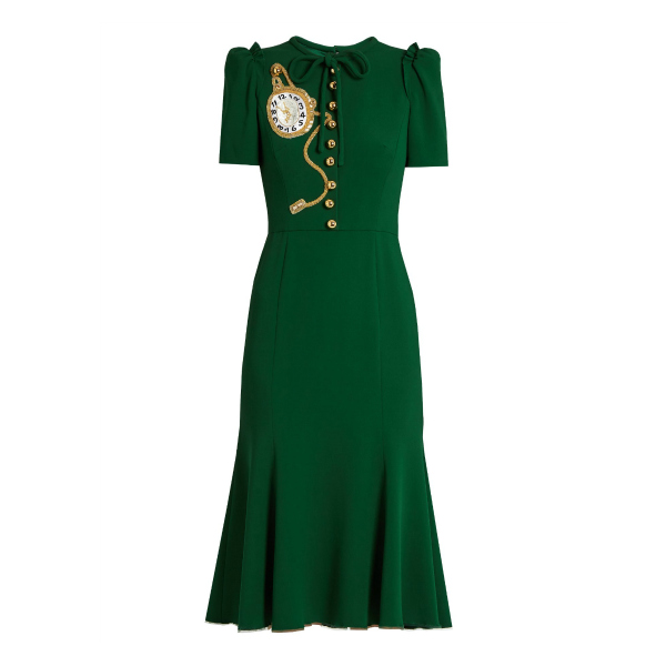 Kate Middleton wears a green D&G midi dress
