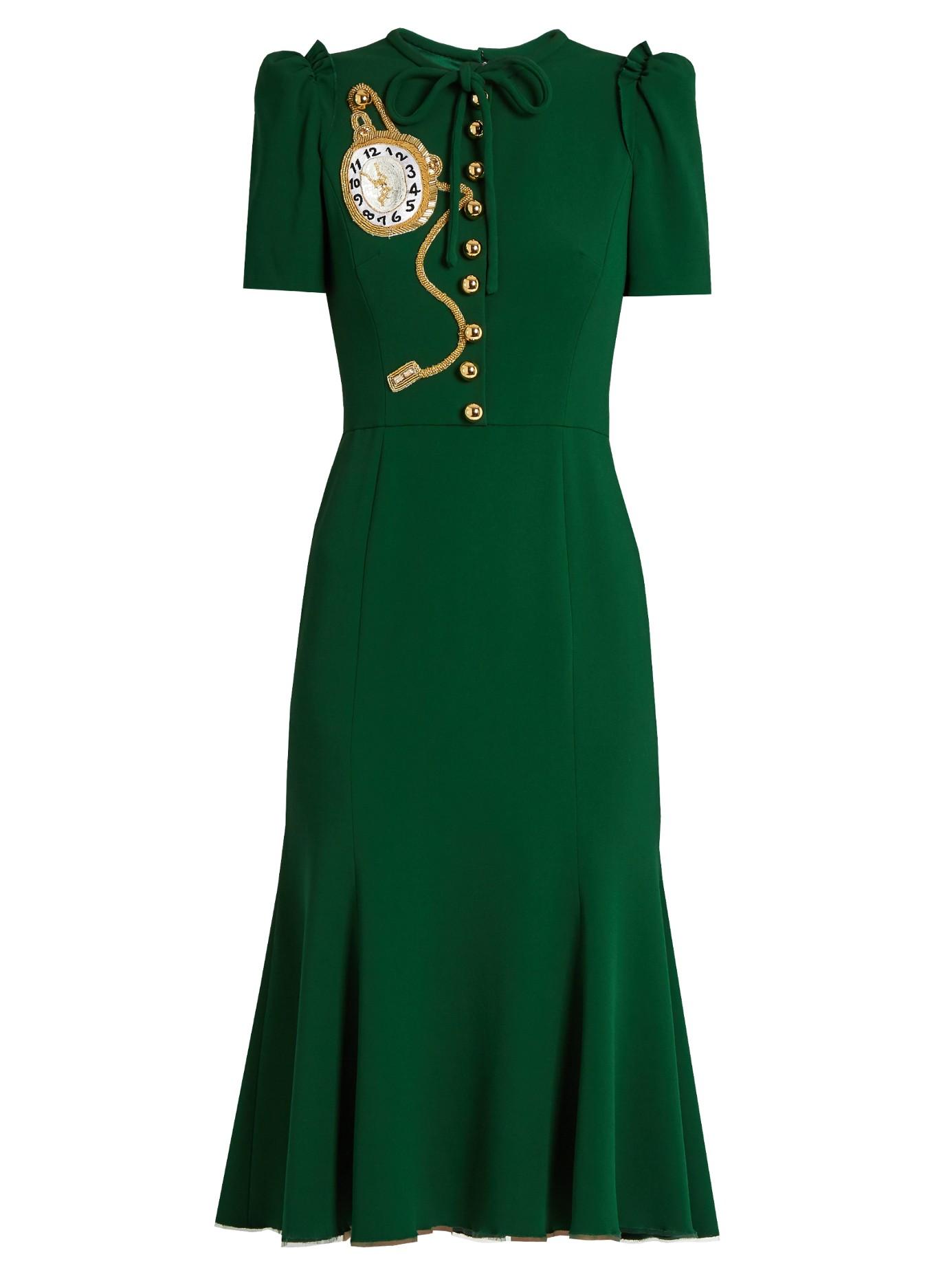 Kate Middleton wears a green D&G midi dress
