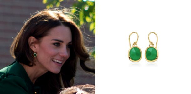 Kate Middleton's green earrings in Canada are by Monica Vinader
