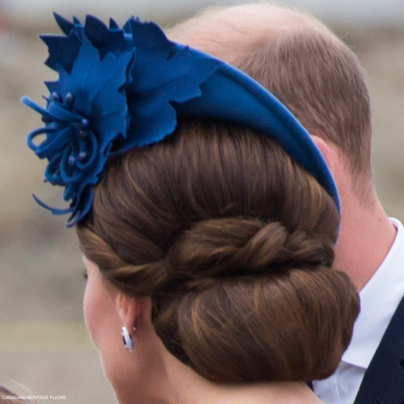 Kate Middleton's blue hat in Canada