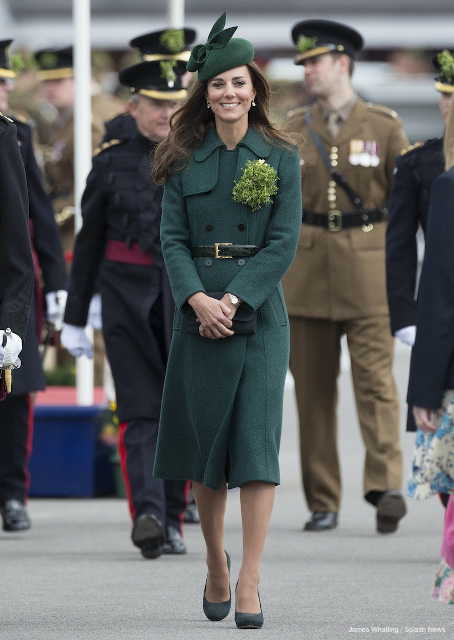 Kate Middleton wearing the Hobbs London Persephone Coat