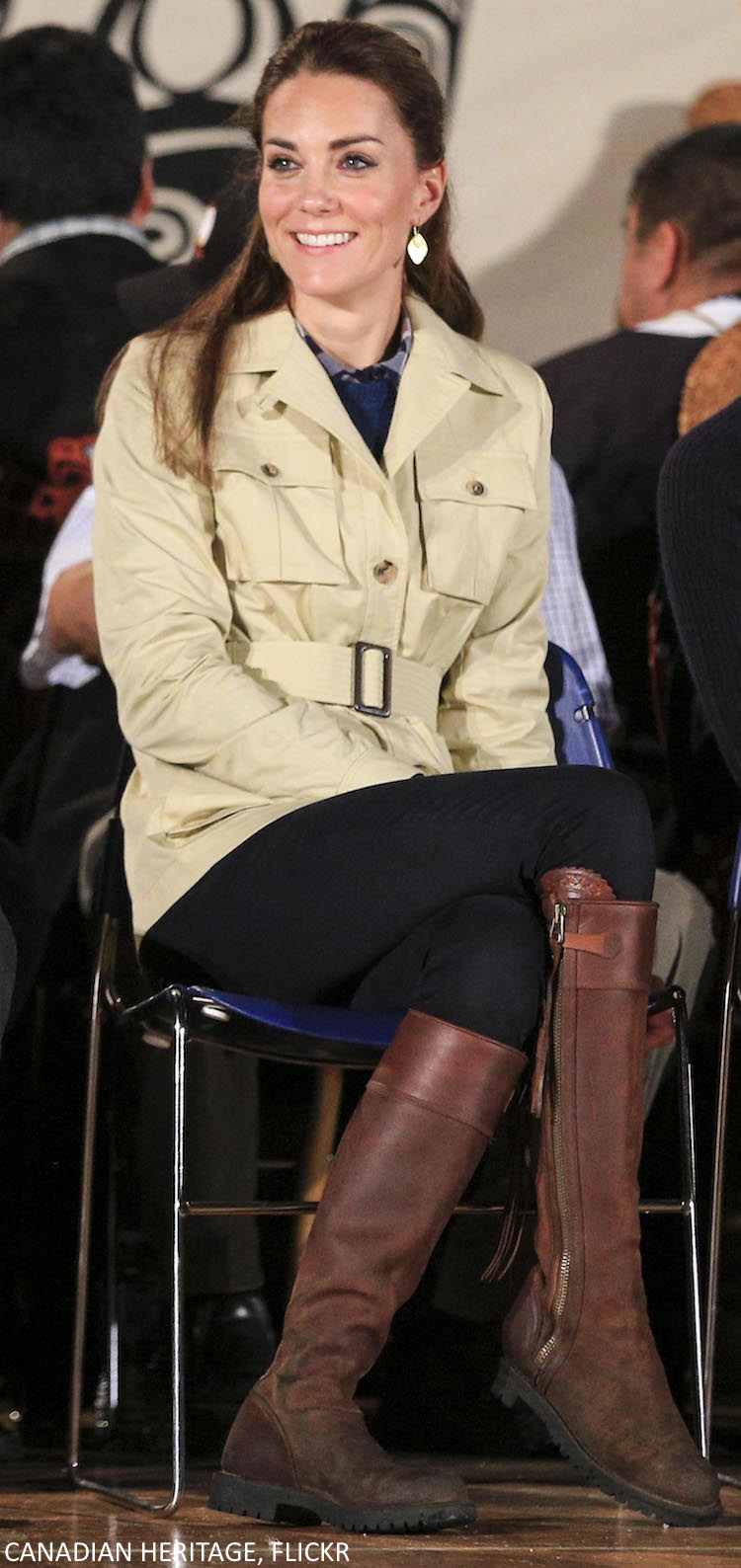 Kate Middleton's casual outfit in Bella Bella, Canada