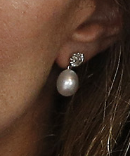 Kate Middleton's pear earrings in Vancouver