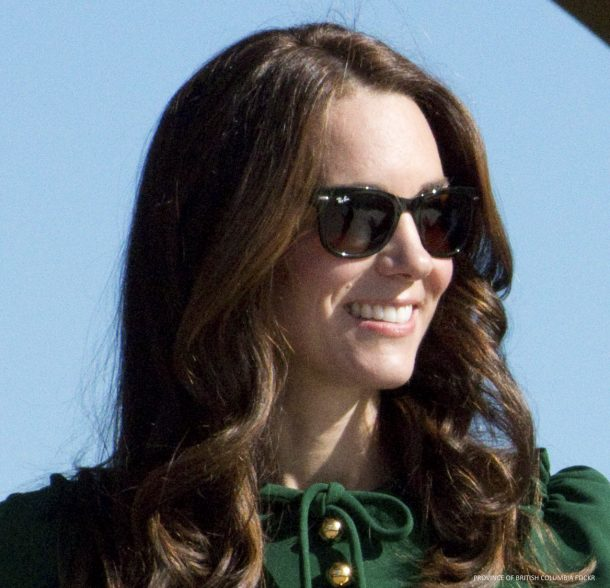 Kate Middleton wearing RayBan sunglasses