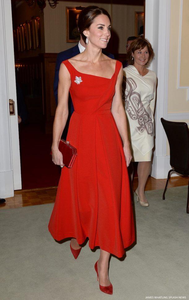 Kate Middleton red preen Finella dress