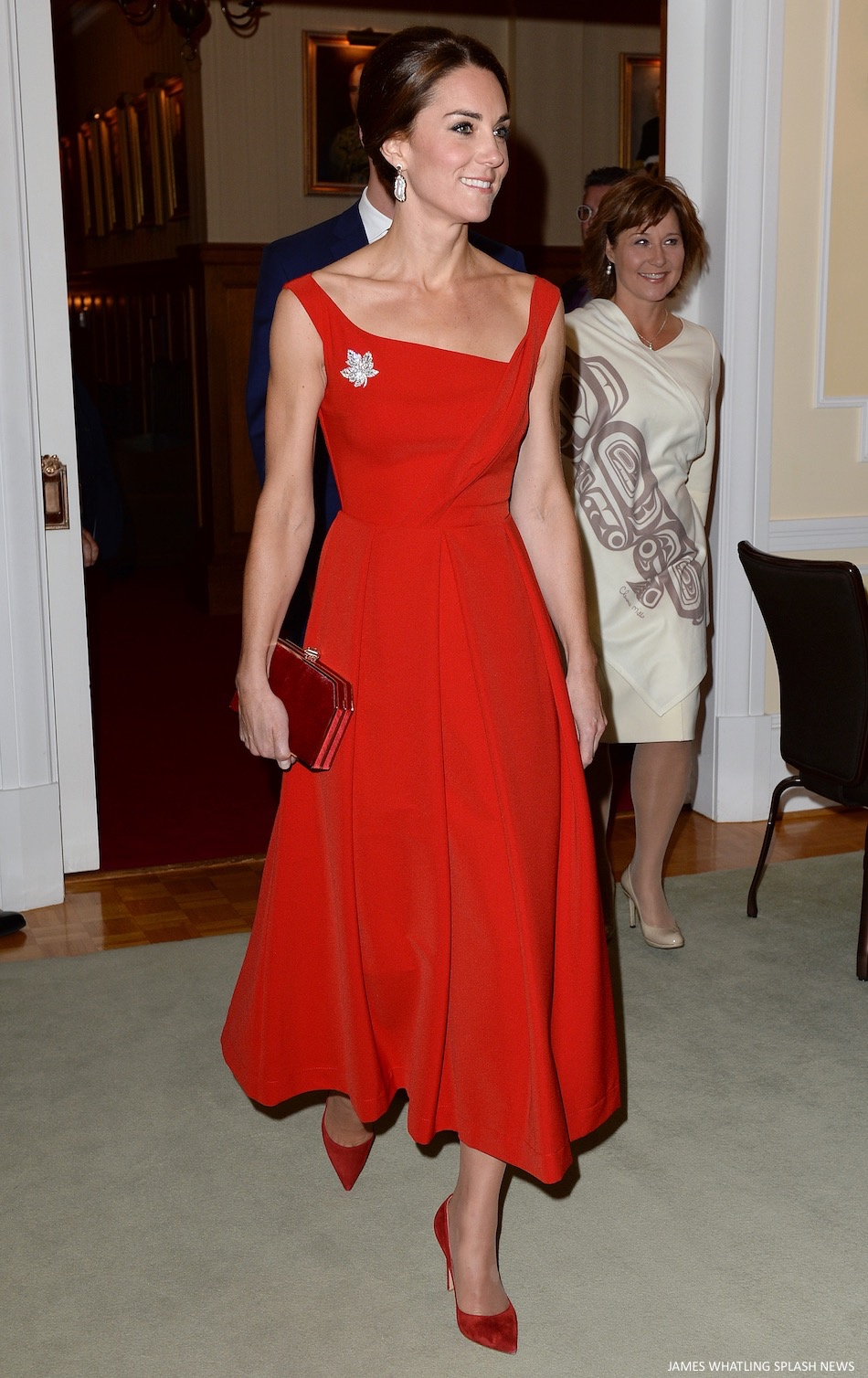 Kate Middleton red preen Finella dress
