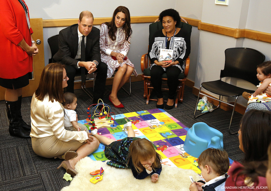 William and Kate visiting Sheway in Vancouver