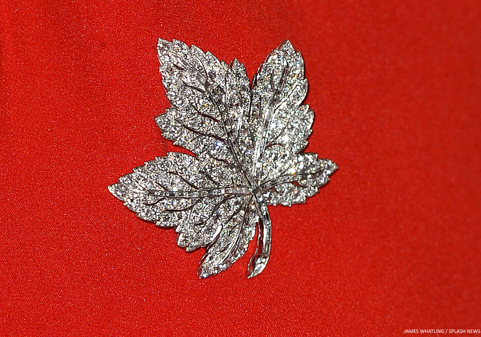 Kate Middleton Maple Leaf Brooch