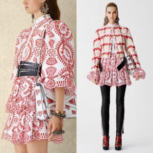 Red & White Alexander McQueen Dress (Resort 2017)