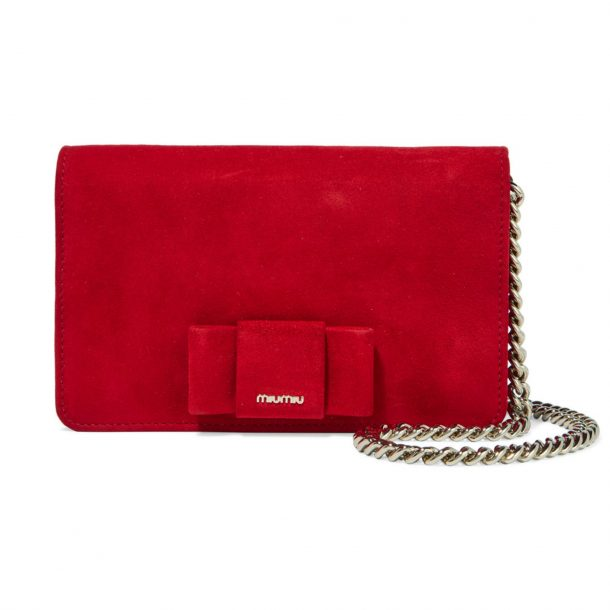 e9325a2194b Miu Miu Bow Bag in red suede carried by Kate Middleton in Vancouver
