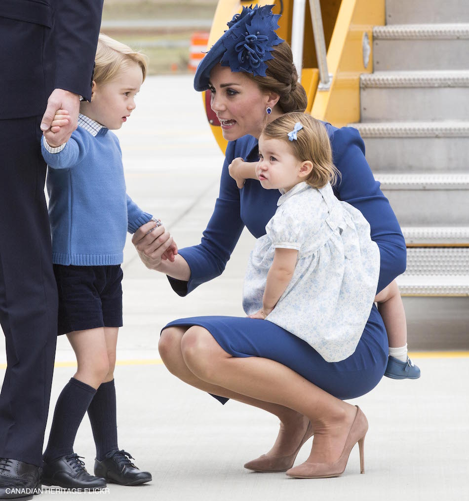 Prince George, Princess Charlotte and the Duchess of Cambridge in Canada
