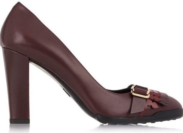 Kate Middletons TODS burgundy shoes