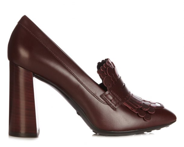 Tods Gomma Shoe in Burgundy