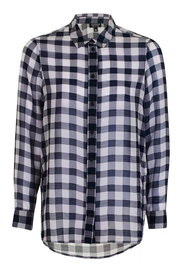 Topshop Gingham Check Shirt