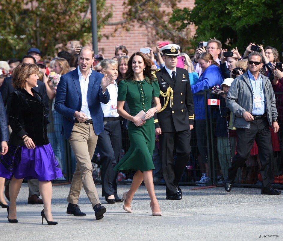 William and Kate at the University of British Columbia